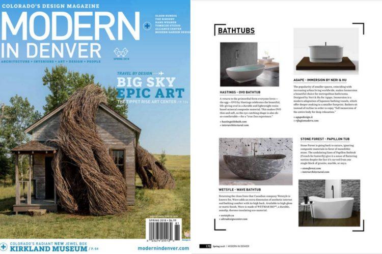 Modern in Denver spring 2018 tabloid - wave bathtub
