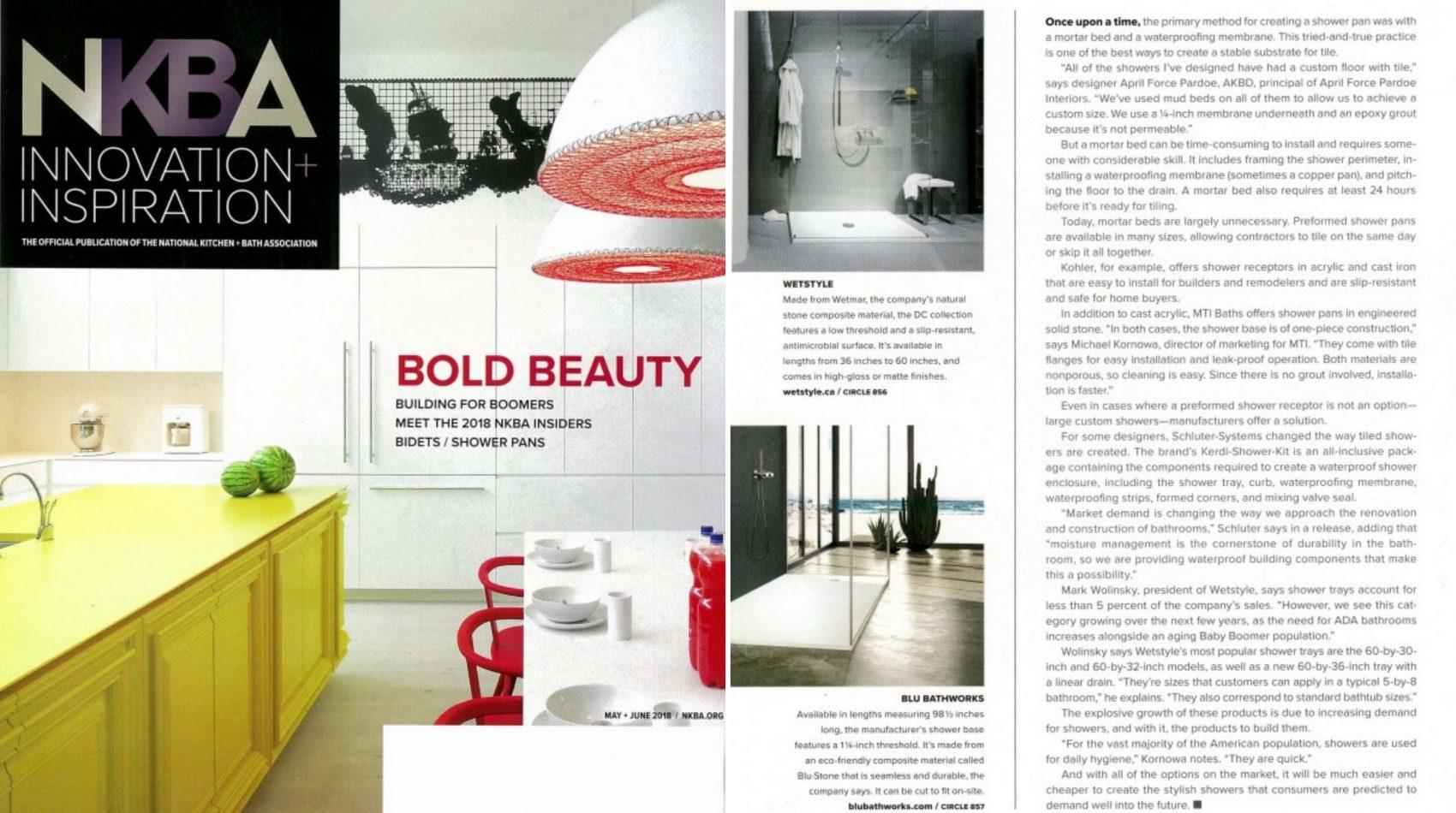NKBA Innovation inspiration may june 2018 tabloid - shower wetstyle