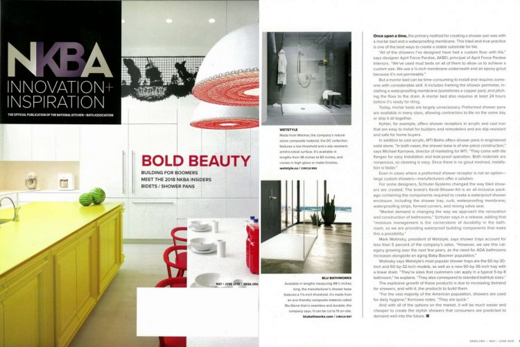 NKBA Innovation inspiration may june 2018 tabloid - shower wetstyle