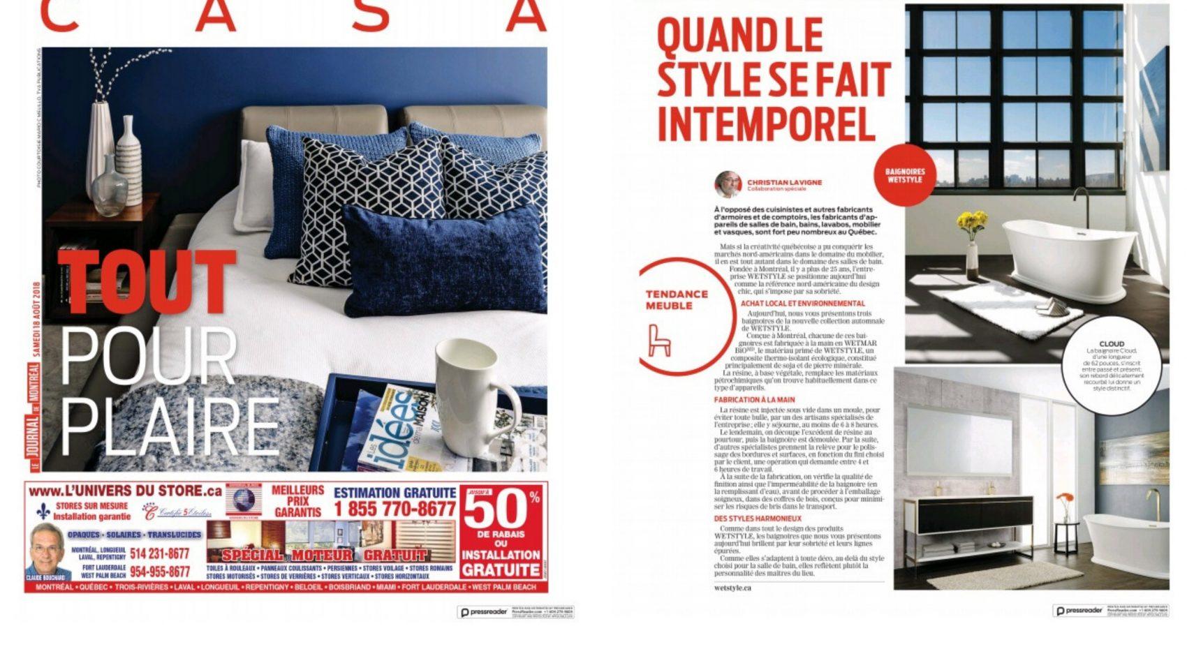 Grand Le Journal De Montréal U2013 August 2018. Wetstyle ...