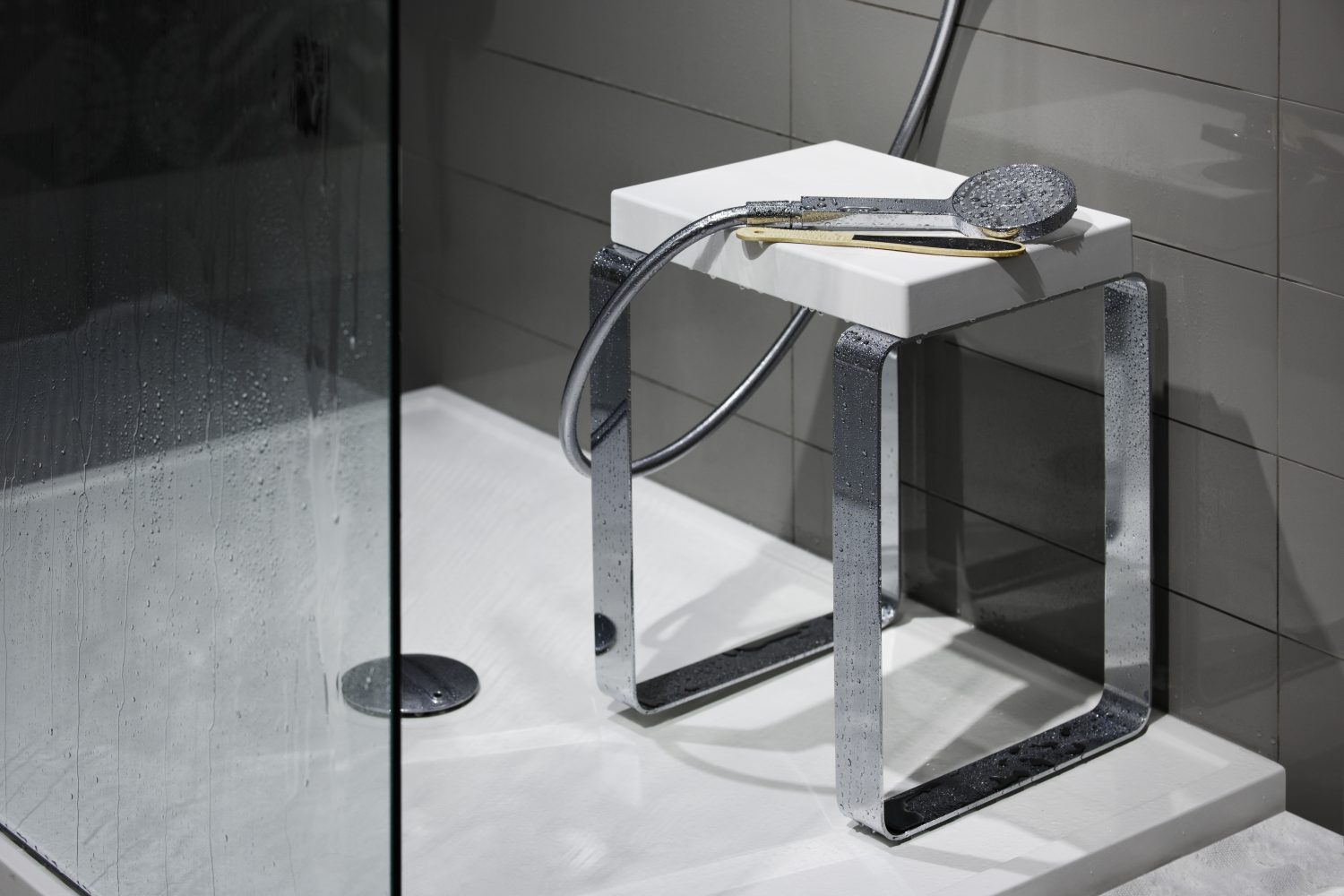 Complements, For Showers - Cube Bench - CUBE COLLECTION  WETSTYLE