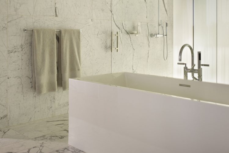 north beach residence project cube bathtub